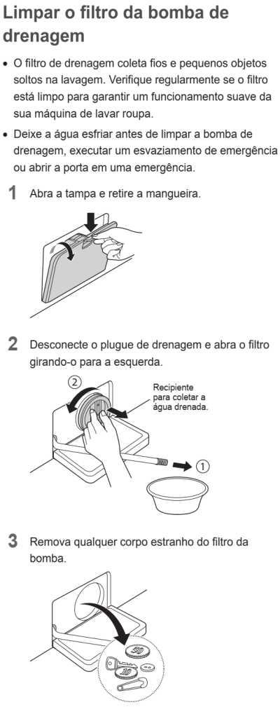 Lava e seca LG 14 Kg - WD1014R - como limpar