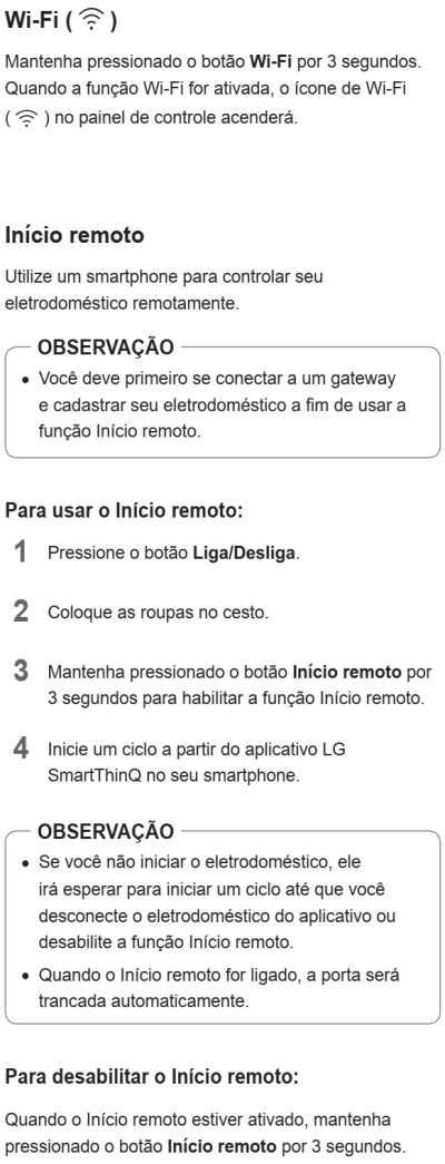 Lava e seca LG 14 Kg - WD1014R - painel de controle - wifi