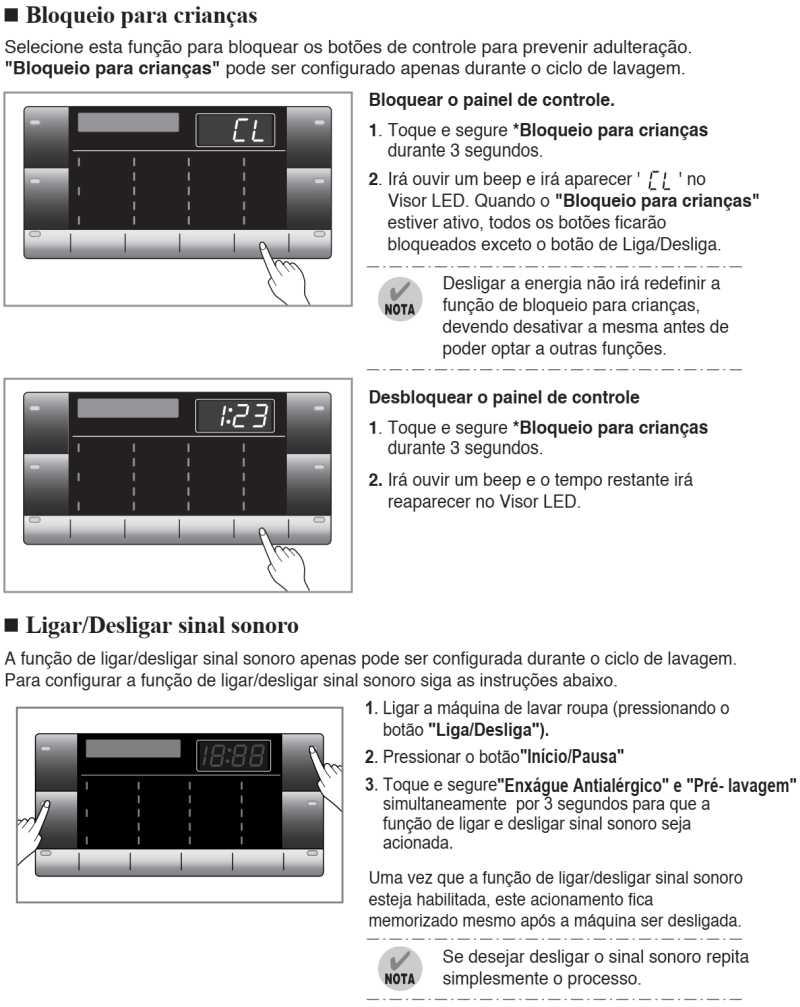 Lava e seca LG 8,5 Kg - WD1485 - painel de controle