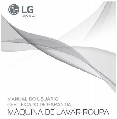 Lava e seca roupas LG - capa manual
