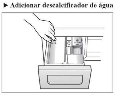 Lava e seca LG - WD10WP6 - como colocar sabão e amaciante