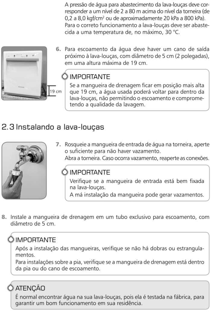 Lava louças Brastemp BLF06 - como instalar 3