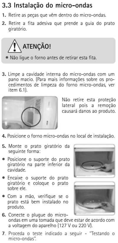 Microondas Brastemp - como instalar - BMT45 - 3