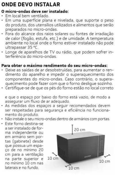 Microondas Brastemp - como instalar - BMS20 - 1