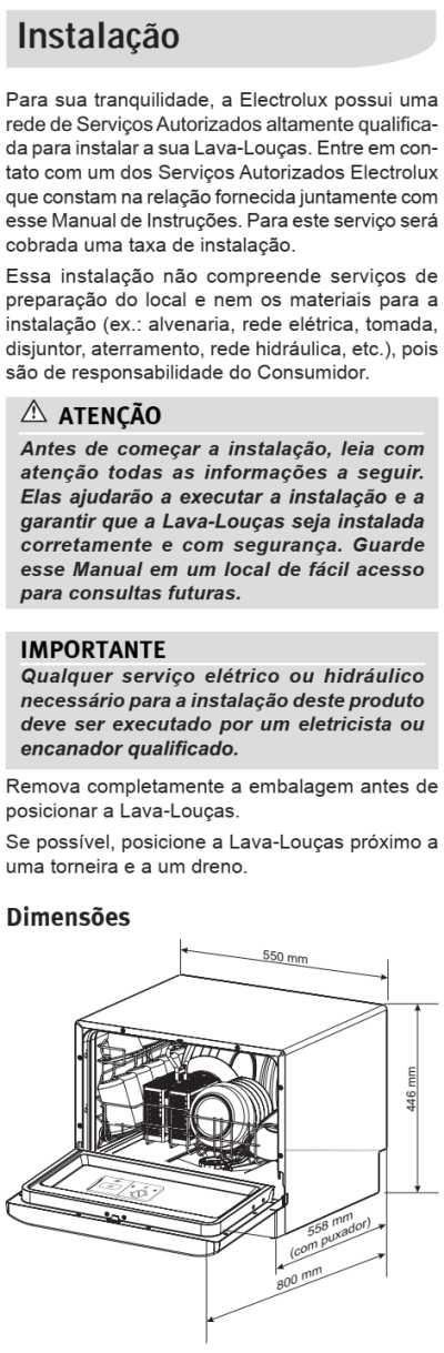 Lava louças Electrolux - LE06 - instalando produto 1