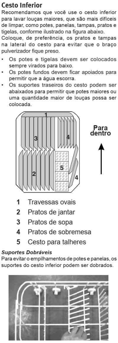 Lava louças Electrolux - LE09 - como usar - abastecendo cesto inferior