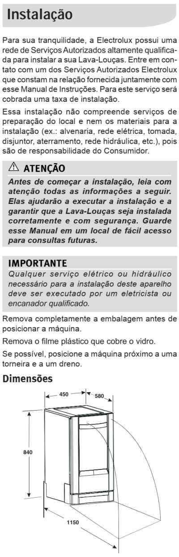 Lava louças Electrolux - LE09 - instalando produto 1