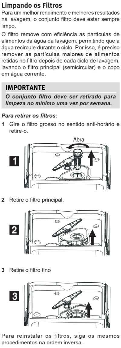 Lava louças Electrolux - LE09 - limpeza e manutenção 3