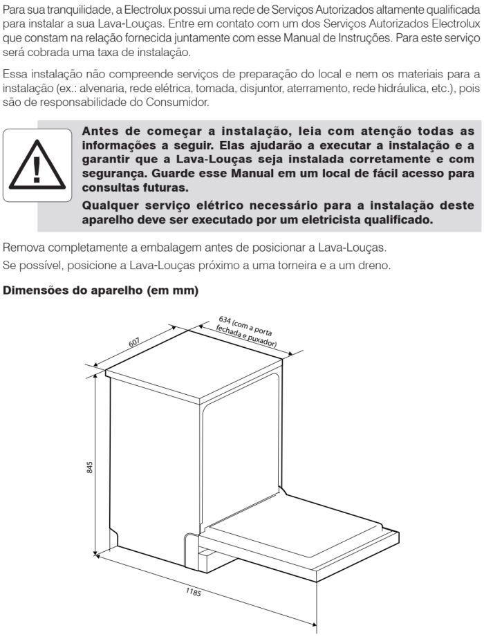 Lava louças Electrolux - LF14 - instalando produto 1