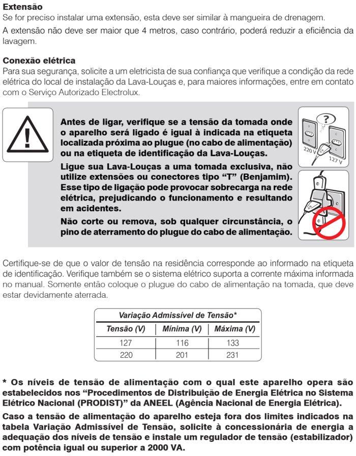 Lava louças Electrolux - LF14 - instalando produto 4