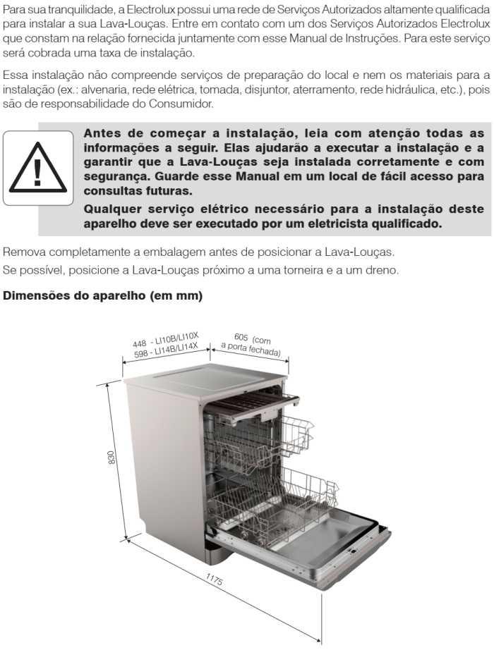 Lava louças Electrolux - LI14 - instalando produto 1