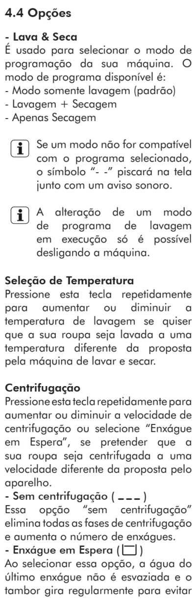 Lava e seca Electrolux - LSP08  - como usar - 4