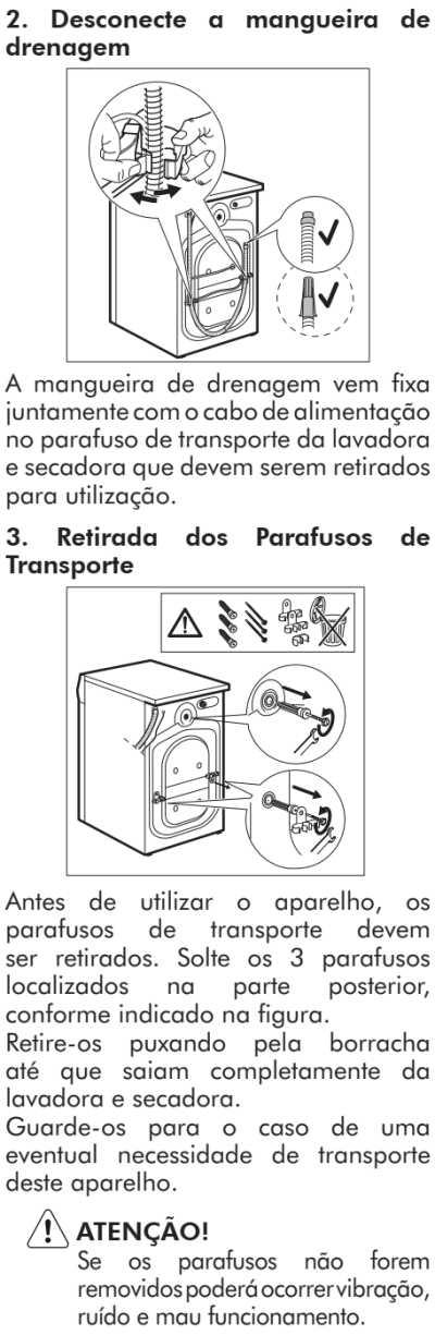 Lava e seca Electrolux - LSP08  - como instalar 2