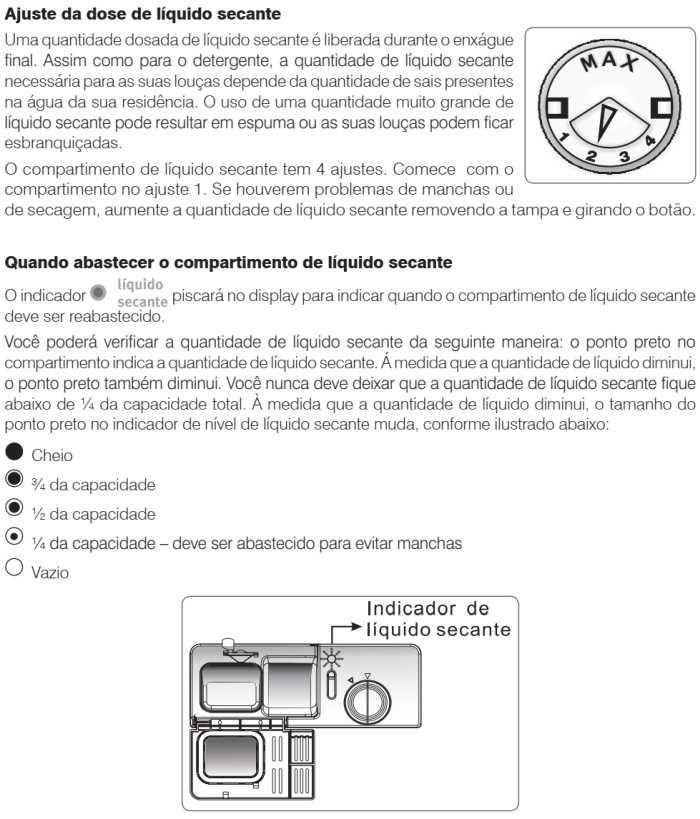 Lava louças Electrolux - LV08 - como usar - abastecendo liquido secante