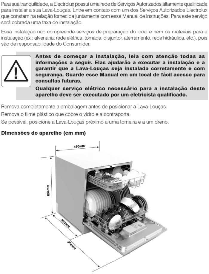 Lava louças Electrolux - LV08 - instalando produto 1