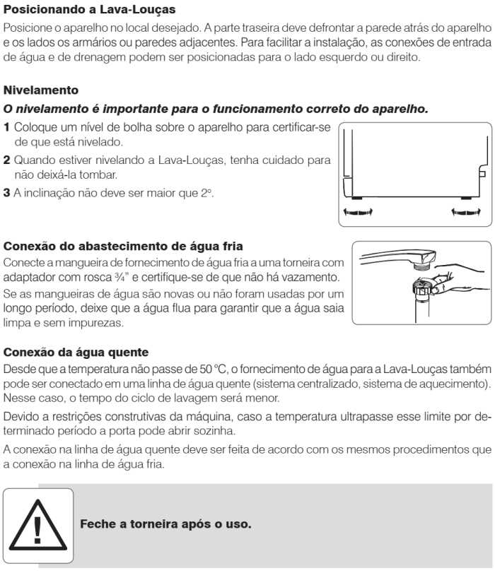 Lava louças Electrolux - LV08 - instalando produto 2