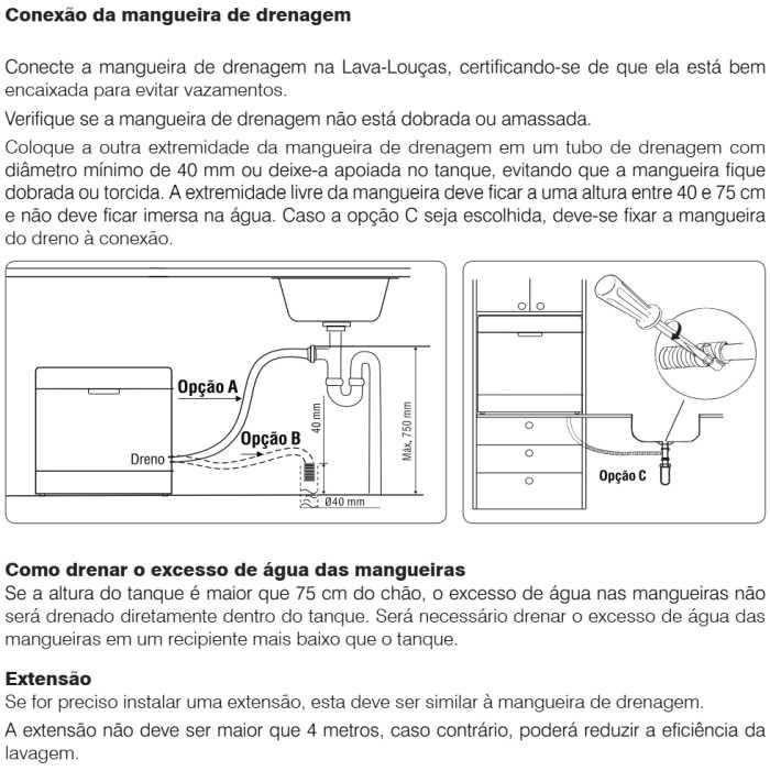 Lava louças Electrolux - LV08 - instalando produto 3