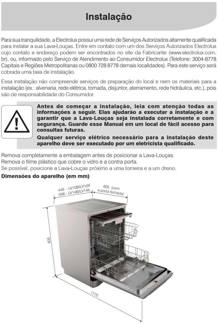 Lava louças Electrolux - LV14 - instalando produto 1