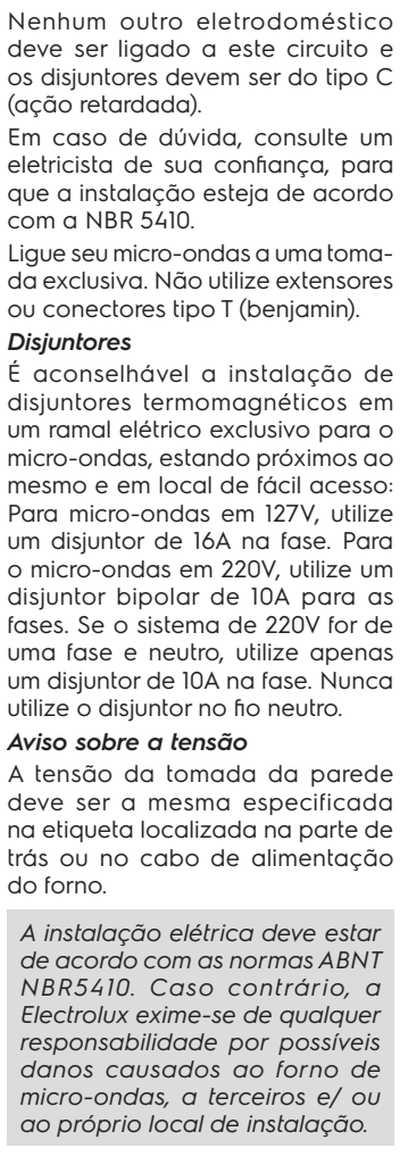 Microondas Electrolux MEF30 - como instalar