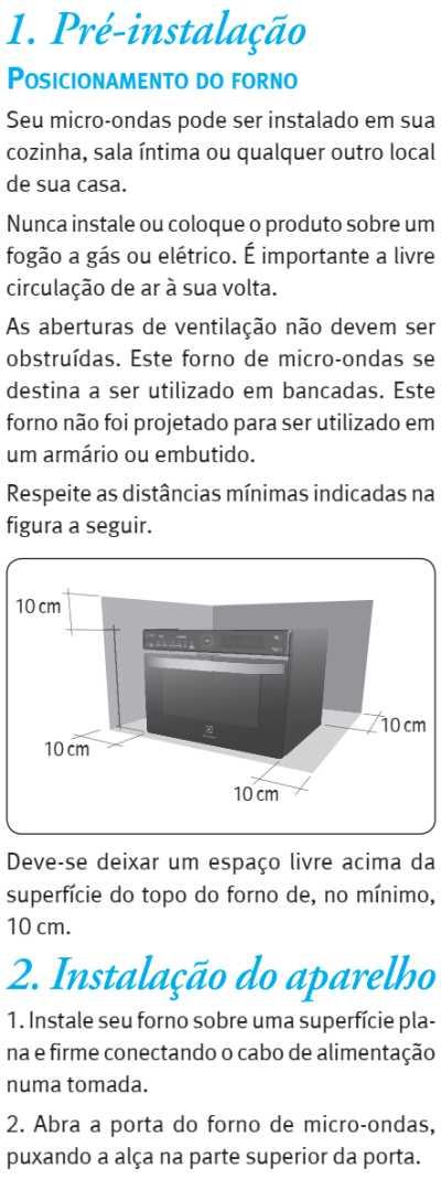 Microondas Electrolux MGA42 - como instalar - 1
