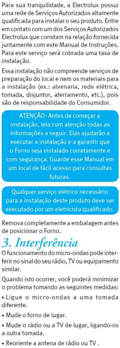 Microondas Electrolux MGA42 - como instalar - 3