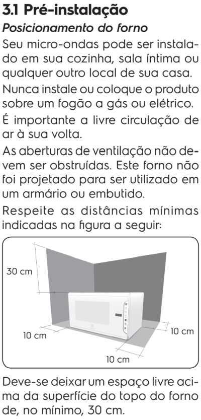 Microondas Electrolux MTO30 - como instalar