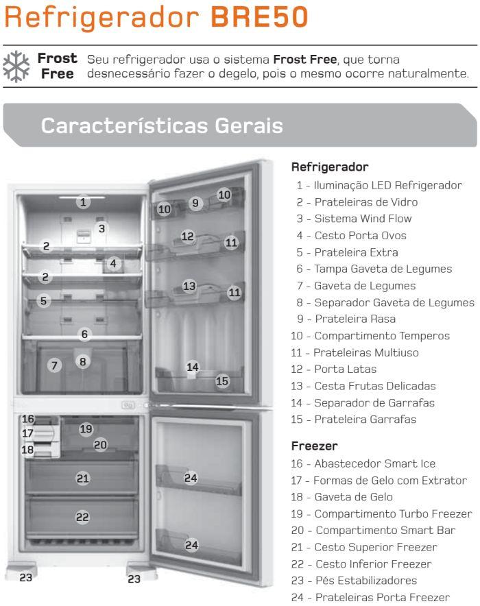 Geladeira Brastemp - BRE50 - conhecendo produto 1