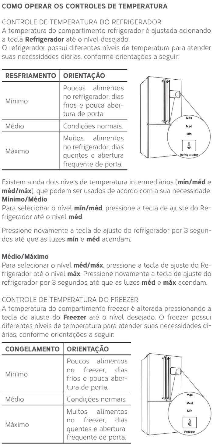 Geladeira Brastemp BRO81 - ajustando temperatura 1
