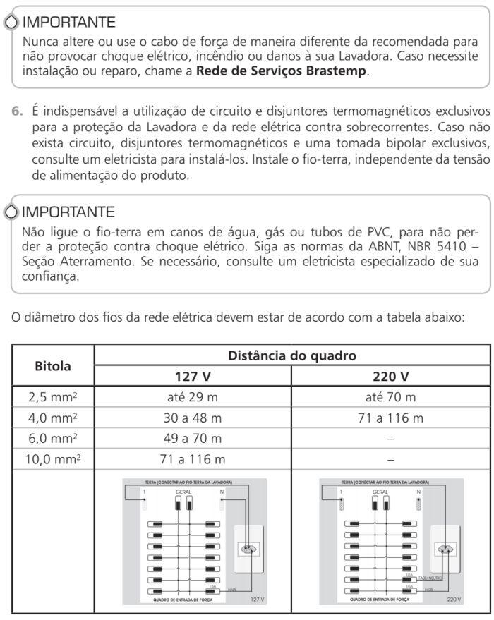Lavadora de roupas Brastemp - BWR12 - como instalar 4