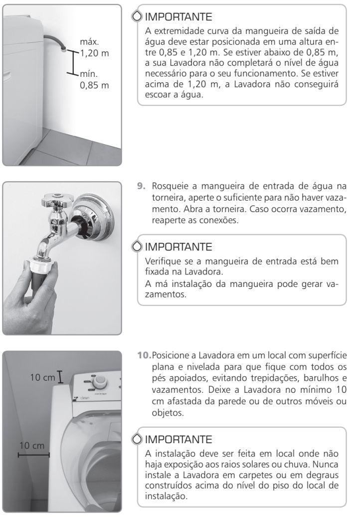 Lavadora de roupas Brastemp - BWR12 - como instalar 6