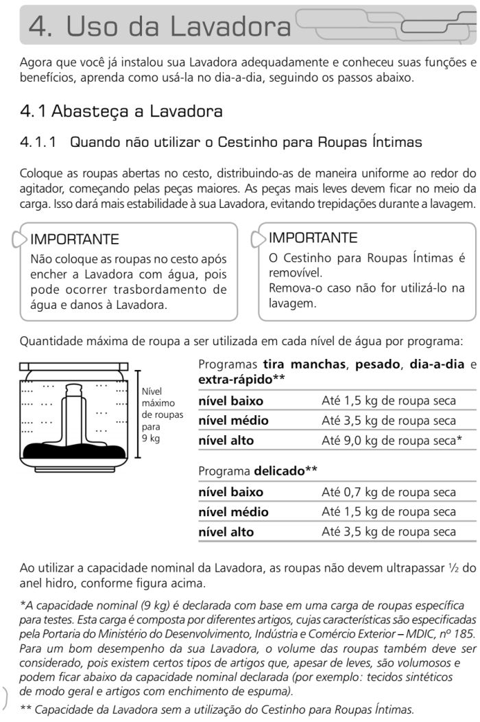 Lavadora de roupas Brastemp - BWL09 - como usar 1