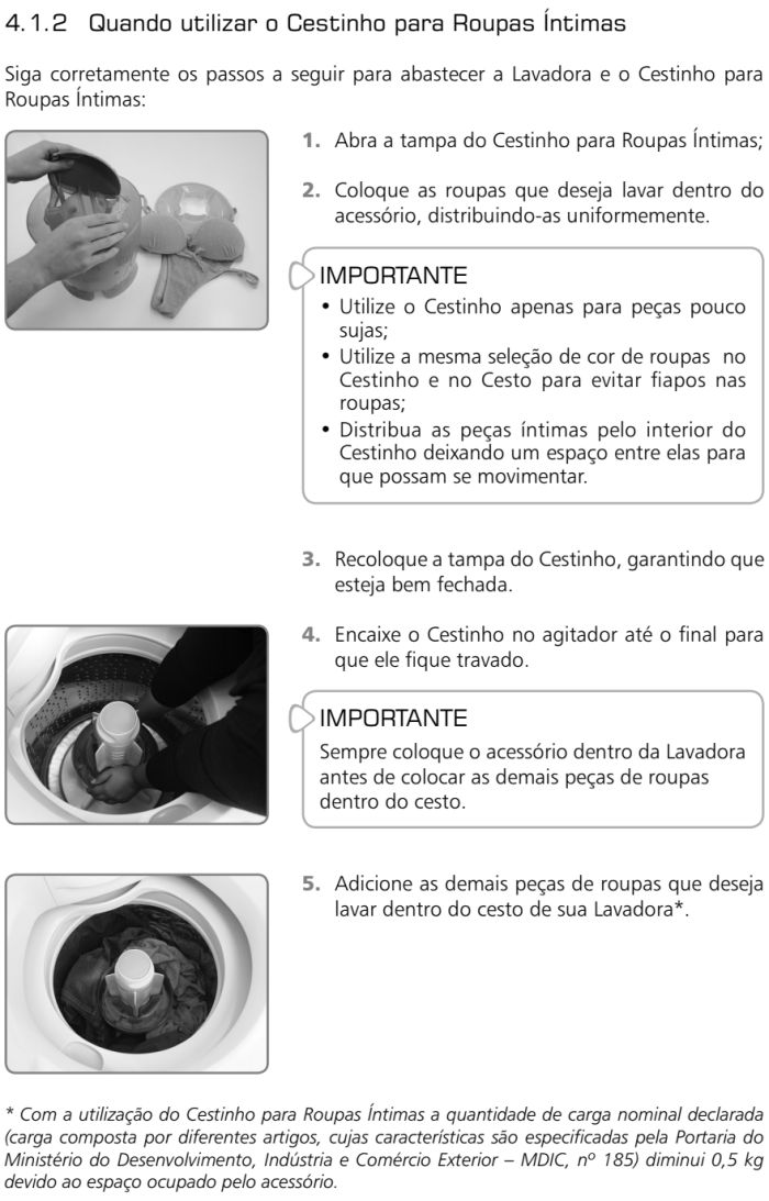 Lavadora de roupas Brastemp - BWL09 - como usar 2