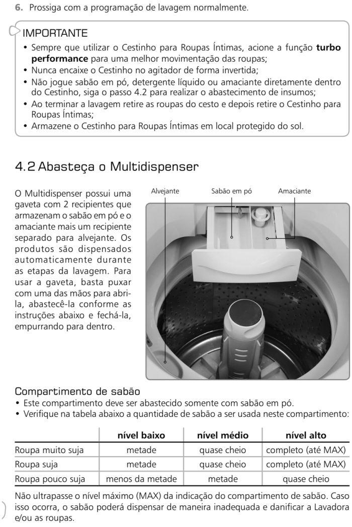 Lavadora de roupas Brastemp - BWL09 - como usar 3