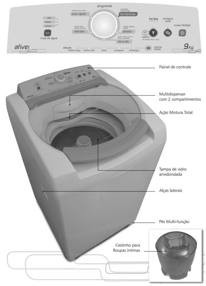 Lavadora de roupas Brastemp - BWL09 - conhecendo produto 1