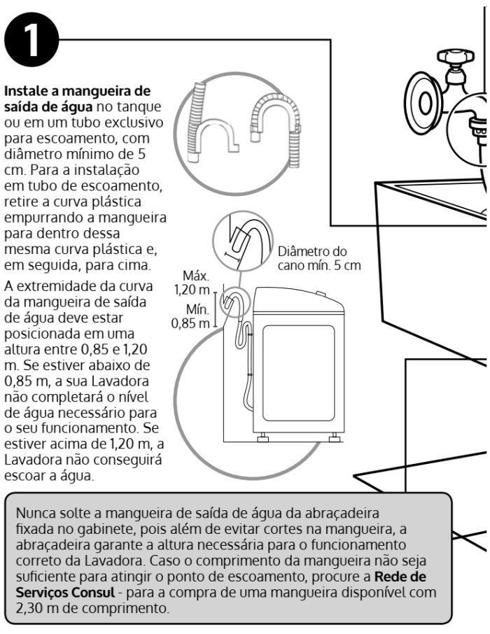 Lavadora de roupas Consul  - CWS12 - instalação - 1