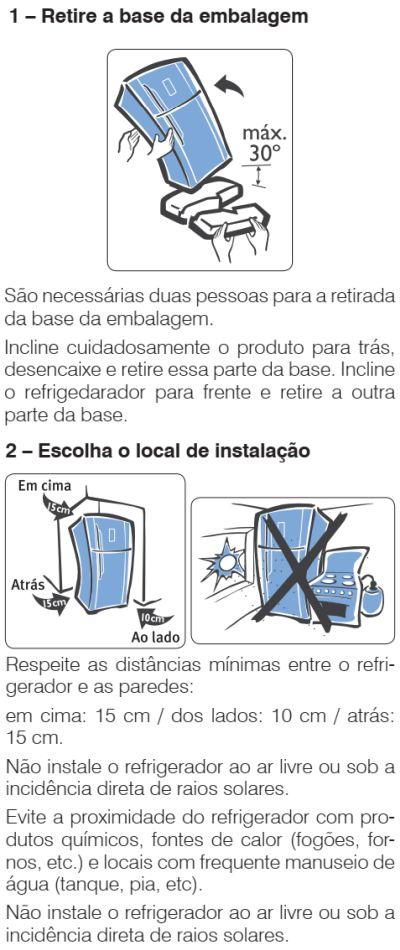 Geladeira Electrolux - DF82 - como instalar 1
