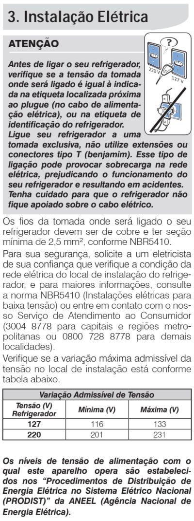 Geladeira Electrolux - DF82 - como instalar 3