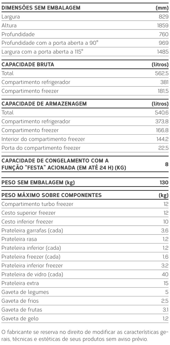 Geladeira Brastemp - GRO80 - conhecendo produto - especificações técnica
