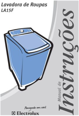 Lavadora de roupas Electrolux LDD16 - capa manual