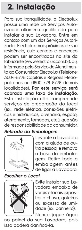 Lavadora de roupas Electrolux LT15F - como instalar 1
