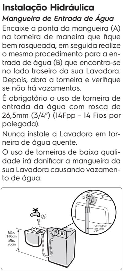 Lavadora de roupas Electrolux LT15F - como instalar 5