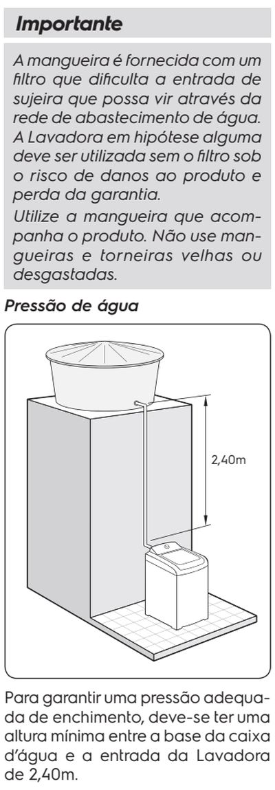 Lavadora de roupas Electrolux LT15F - como instalar 6