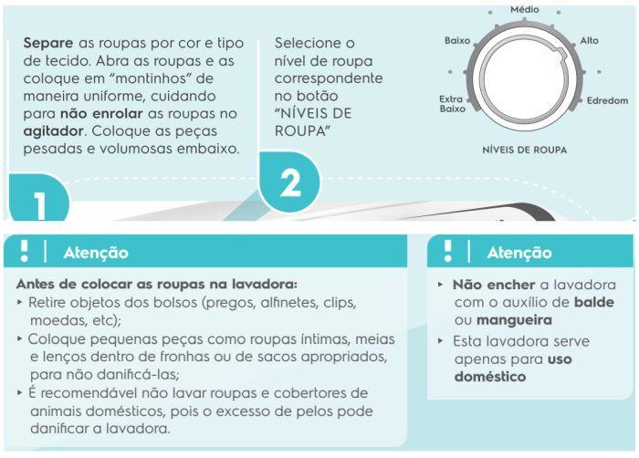 Lavadora de roupas Electrolux LPR13 - como usar 2