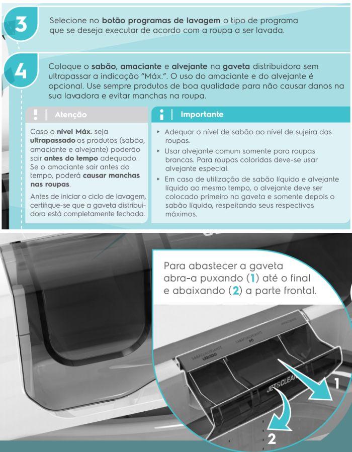 Lavadora de roupas Electrolux LPR13 - como usar 3