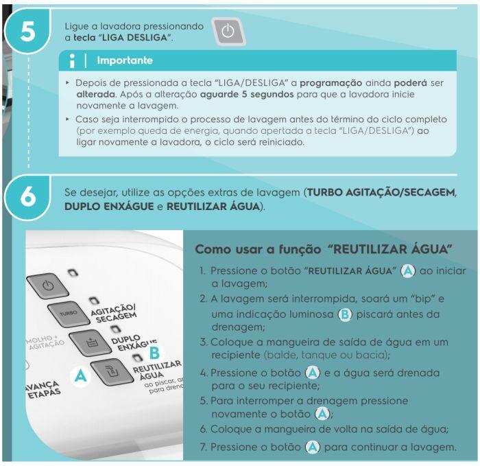 Lavadora de roupas Electrolux LPR13 - como usar 4