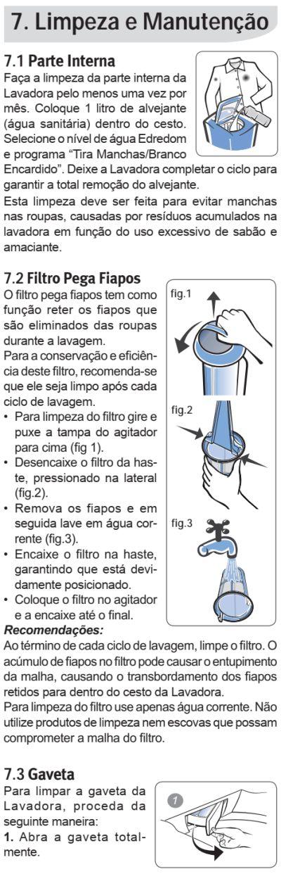 Lavadora de roupas Electrolux LT15F - como limpar 1