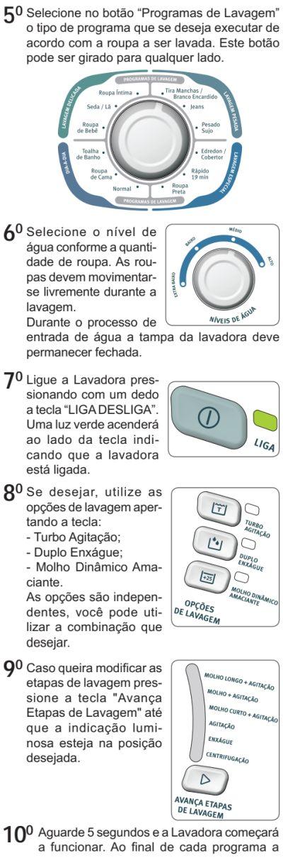 Lavadora de roupas Electrolux LTC10 - como usar 2