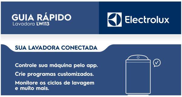 Lavadora de roupas Electrolux LT12B - capa manual