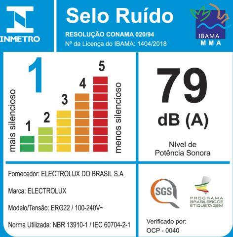 Aspirador de Pó Lite Electrolux ERG22 - selo Inmetro