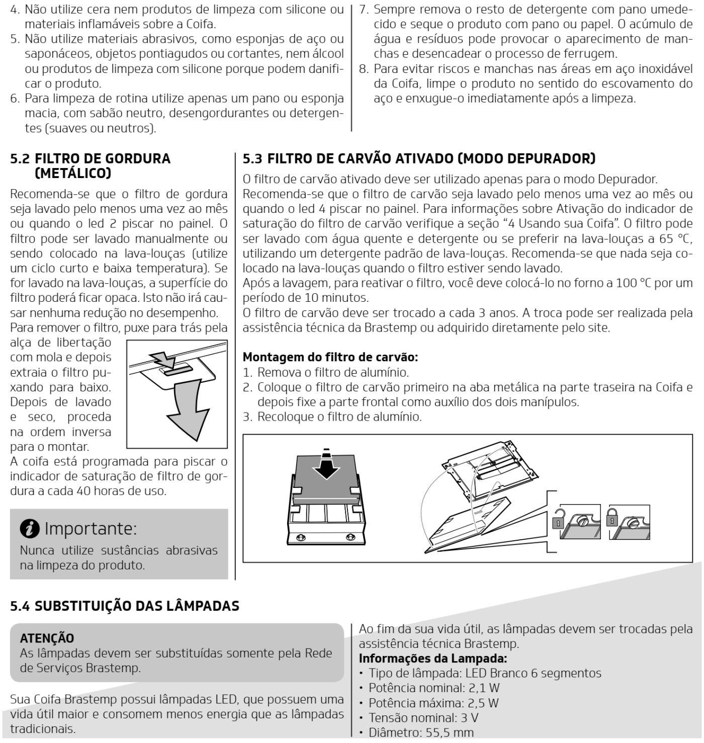 Coifa Brastemp  BAP90 - limpeza e manutenção - 2